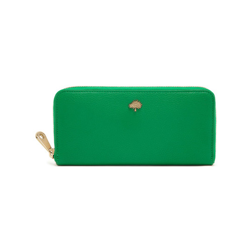 Mulberry Tree Zip Around Wallet Jungle Green Small Classic Grain