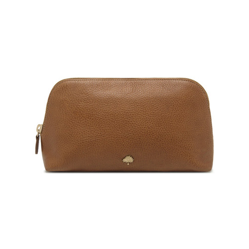 Mulberry Large Make Up Case Oak Natural Leather