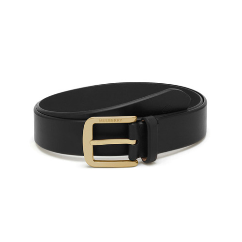 Mulberry Casual Buckle Belt Black Smooth Saddle