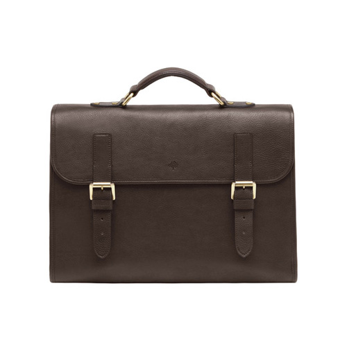 Mulberry Walter Chocolate Natural Leather