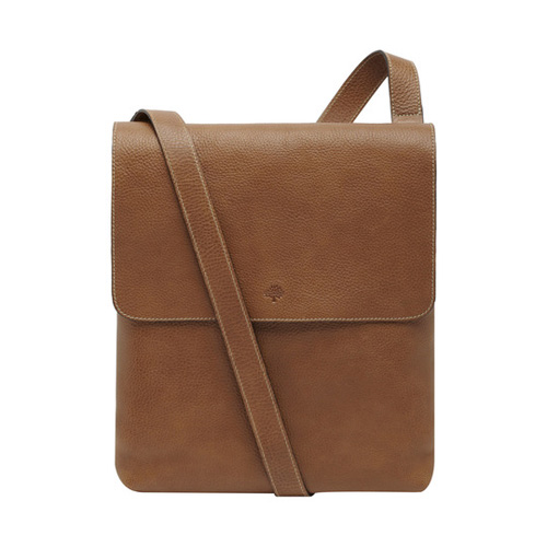 Mulberry Reporter With Flap Oak Natural Leather
