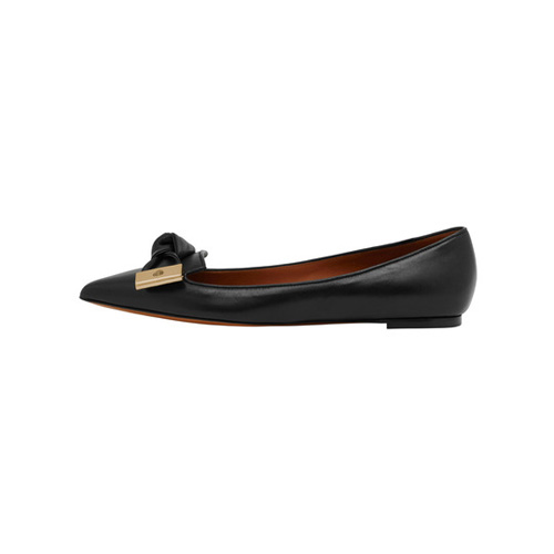 Mulberry Kensington Slipper Black Silky Nappa