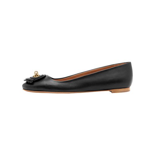 Mulberry Blenheim Ballerina Black Calf & Saddle Leather