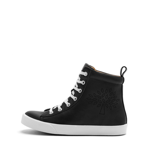 Mulberry High Top Perforated Sneakers Black