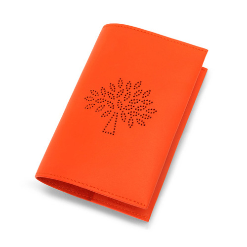 Mulberry Blossom Passport Cover Mandarin Calf Nappa