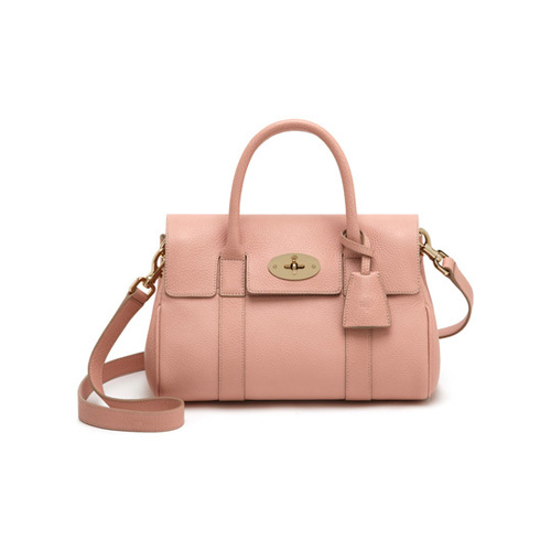 Mulberry Small Bayswater Satchel Rose Petal Small Classic Grain