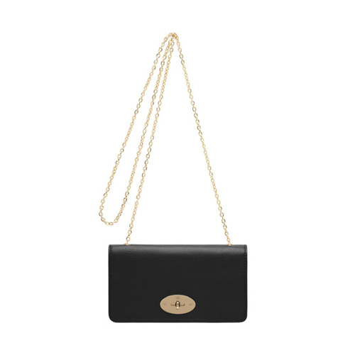 Mulberry Bayswater Clutch Wallet Black Glossy Goat
