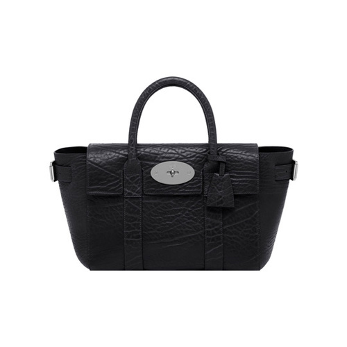 Mulberry Small Bayswater Buckle Black Shrunken Calf