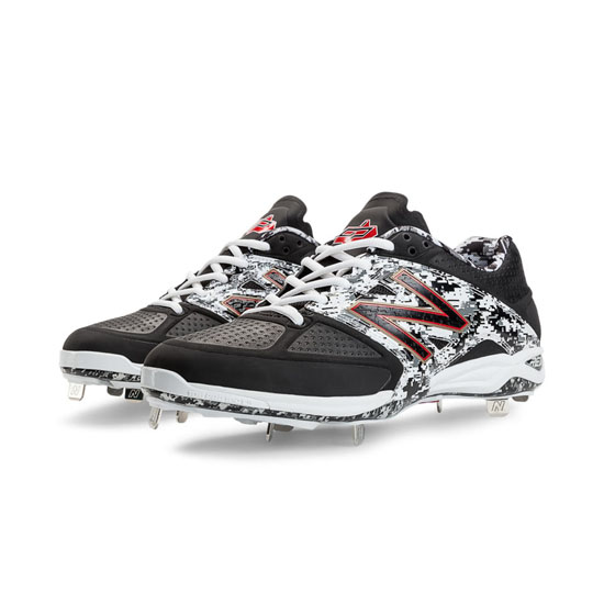 MEN'S New Balance Pedroia Low-Cut 4040v2 Metal Cleat Black with White