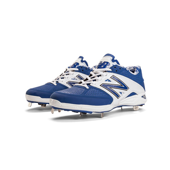 MEN'S New Balance Low-Cut 4040v2 Metal Cleat Blue with White