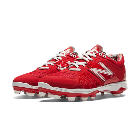 MEN'S New Balance Low-Cut 2000v2 TPU Molded Cleat Red