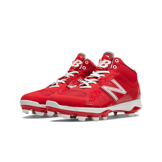 MEN'S New Balance Mid-Cut 2000v2 TPU Molded Cleat Red