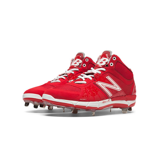 MEN'S New Balance Mid-Cut 3000v2 Metal Cleat Red
