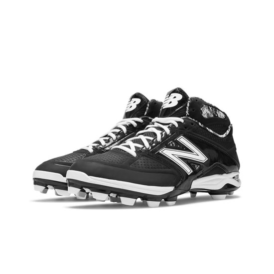 MEN'S New Balance Mid-Cut 4040v2 TPU Molded Cleat Black with White