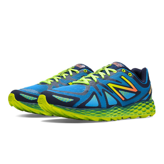 MEN'S New Balance Fresh Foam 980 Trail Blue with Yellow & Green Apple