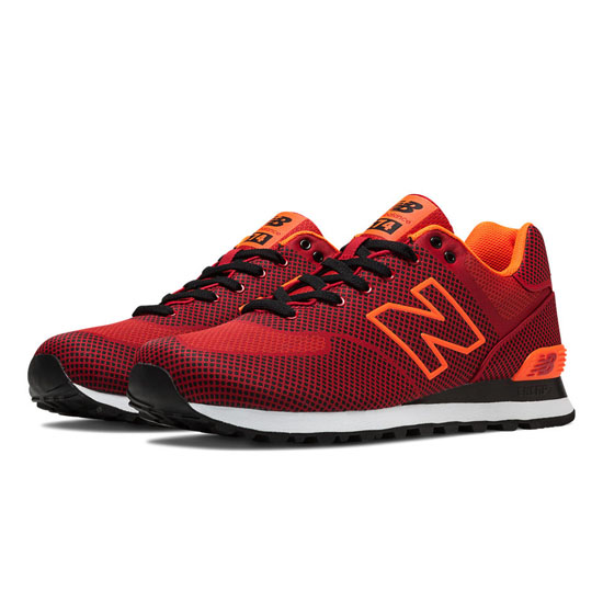 MEN'S New Balance Woven 574 Red with Dragonfly & Black