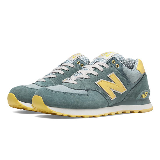 MEN'S New Balance Picnic Pack 574 Chambray with Light Yellow