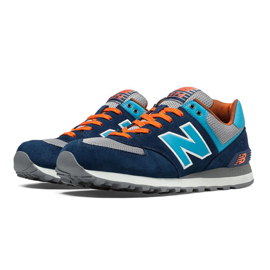 MEN'S New Balance Out East 574 Dark Sapphire with Grey & Cadet Blue