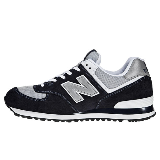 MEN'S New Balance 574 Navy with Light Grey & White