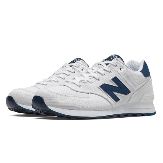 MEN'S New Balance 574 Pique Polo Pack White with Navy