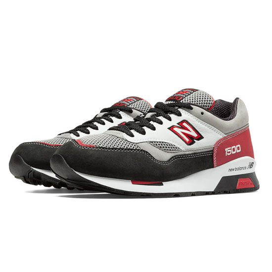 MEN'S New Balance Elite Riders Club 1500 Grey with Black & Deep Claret