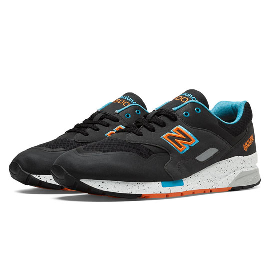 MEN\'S New Balance Elite Sonic 1600 Black with Blue Atoll & Orange