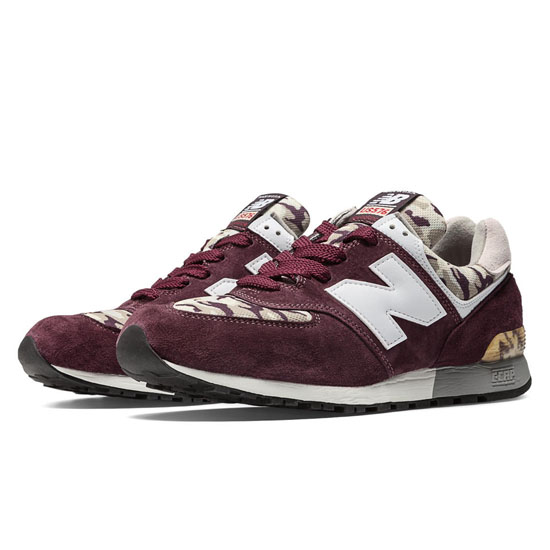 MEN'S New Balance Camo 576 Burgundy with White & Tan