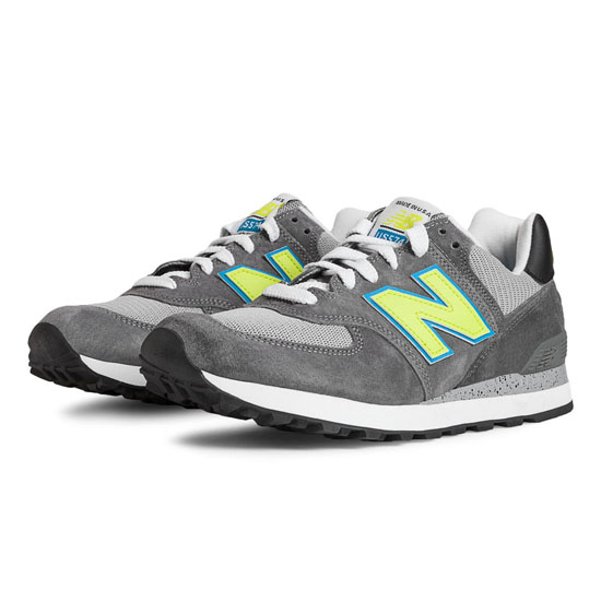 MEN'S New Balance National Parks 574 Castlerock with Lime & Turquoise