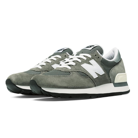 MEN'S New Balance Made in the USA Bringback 990 Grey with White