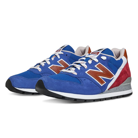 MEN'S New Balance National Parks 996 Blue with Red & Caramel Caf茅