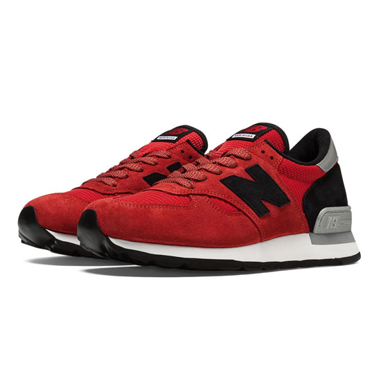 MEN'S New Balance Connoisseur Guitar 990 Red with Black