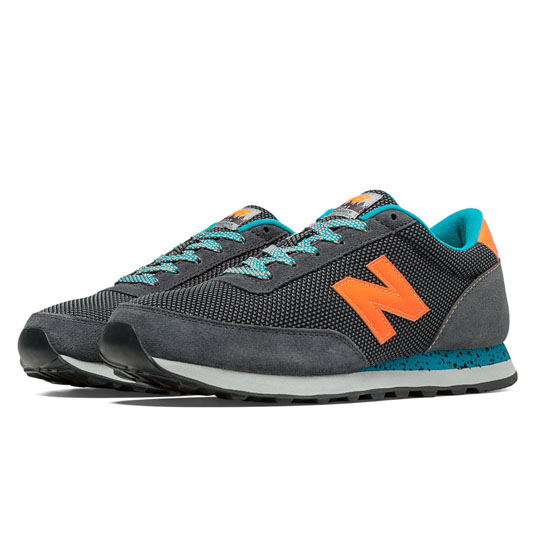 MEN'S New Balance 90s Outdoor 501 Dark Grey with Orange & Grey