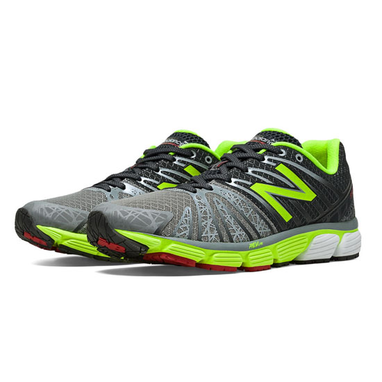 MEN'S New Balance 890v5 Grey with Dark Grey & Lime Green