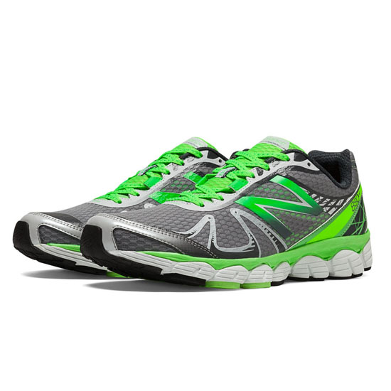 MEN'S New Balance 880v4 Silver with Chemical Green