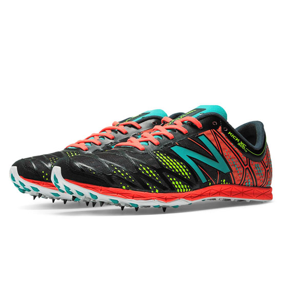 MEN'S New Balance XC900v2 Spike Black with Coral & Teal