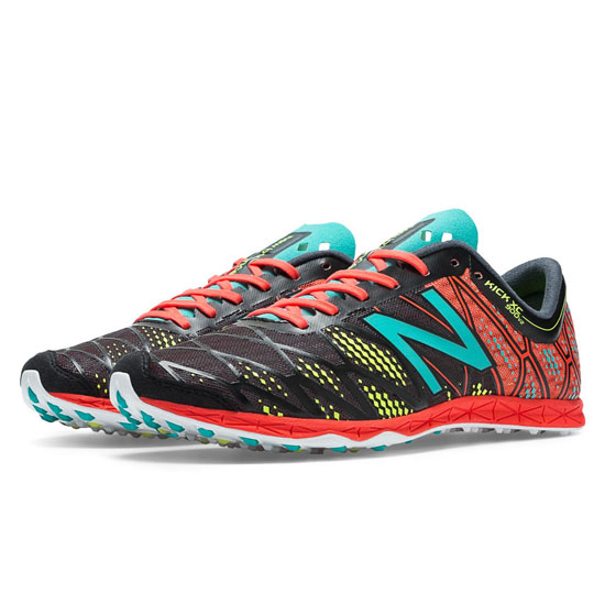 MEN'S New Balance XC900v2 Spikeless Black with Coral & Teal