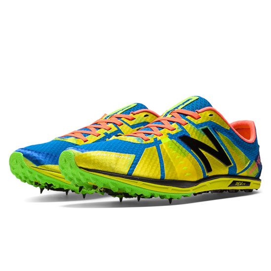 MEN'S New Balance XC5000 Spike Yellow with Blue & Green