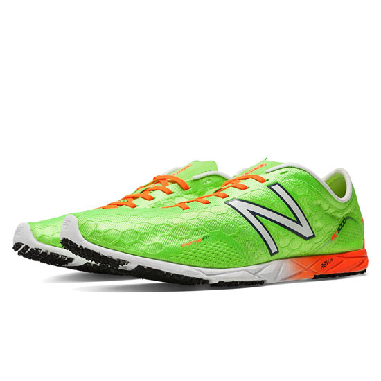 MEN'S New Balance 5000 Spikeless Lime Green with Orange & White
