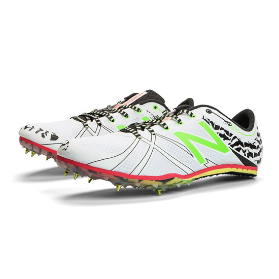 MEN\'S New Balance MD500v3 Spike White with Green Gecko & Black