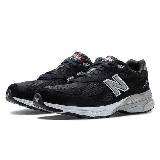 MEN'S New Balance 990v3 Black with Grey & White