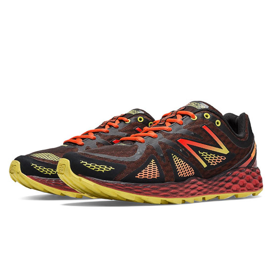 MEN'S New Balance Fresh Foam 980 Trail Red with Black & Yellow