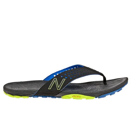 MEN'S New Balance Minimus Vibram Thong Black with Blue & Yellow