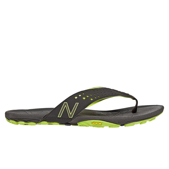 MEN'S New Balance Minimus Vibram Thong Brown with Lime Green