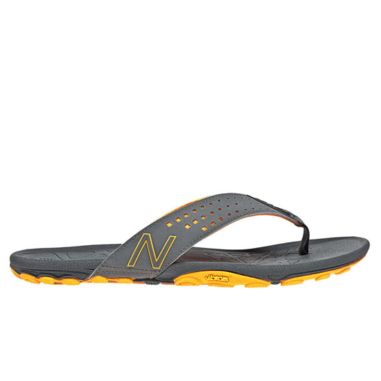 MEN'S New Balance Minimus Vibram Thong Titanium with Yellow