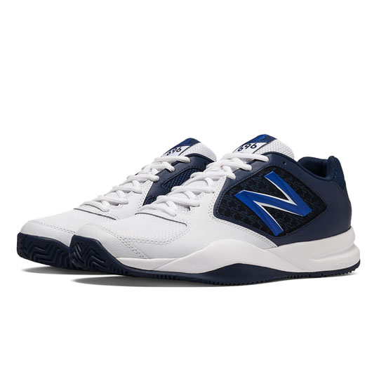 MEN'S New Balance 696v2 White with Navy & Blue