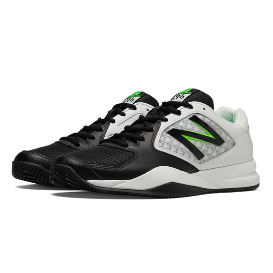 MEN'S New Balance 696v2 Black with Chemical Green & White