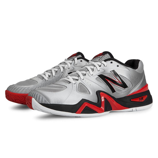 MEN'S New Balance 1296 Silver with Red & Black