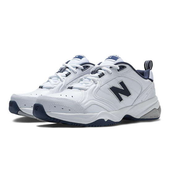 MEN'S New Balance 624 White with Navy