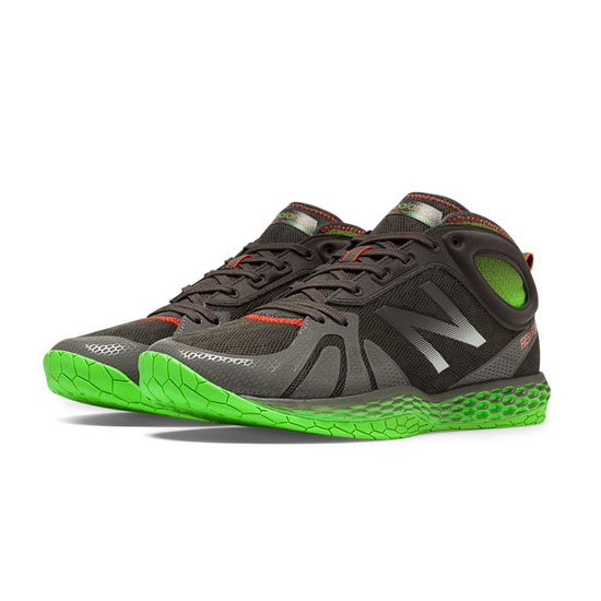 MEN'S New Balance Fresh Foam 80 Dark Grey with Fluorescent Green