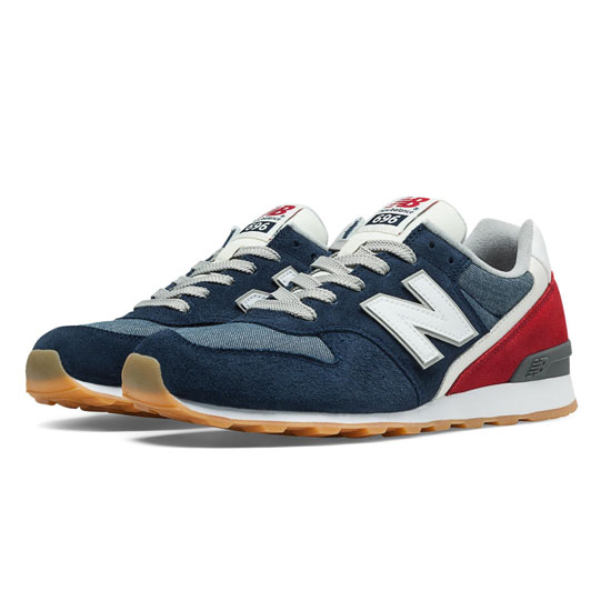 WOMEN'S New Balance 696 Navy with Red & Blue Ashes